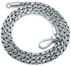 Sale: 3mm Sterling Silver Woven Chain 18-Inch Necklace by EDennis