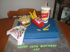 Burger King Cake baking ideas Pinterest Burgers Cake and