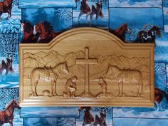Praying Cowboy, Cowboy Art, Cowboy Sign, Cowgirl Sign, Western art, Old West Sign, Cowboy Wood Carving, Cabin Sign