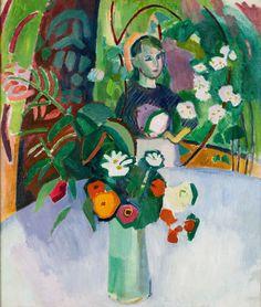 Raoul DUFY Jeanne dans les fleurs