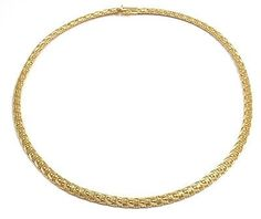 AUTHENTIC! ROBERTO COIN 18K YELLOW GOLD WOVEN SILK COLLECTION NECKLACE - http://elegant.designerjewelrygalleria.com/roberto-coin/authentic-roberto-coin-18k-yellow-gold-woven-silk-collection-necklace-2/