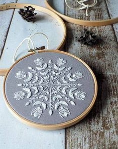 The most winterish piece of embroidery