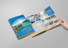 Use this Corporate Bi-fold Brochure design when you need promotion ...