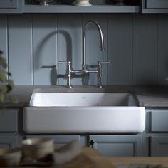 "Kohler Whitehaven Self-Trimming 29-1/2"" x 21-9/16"" x 9-5/8"" Undermount Single-Bowl Kitchen Sink with Short Apron & Reviews | Wayfair"