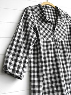 Upcycle flannel shirts to this