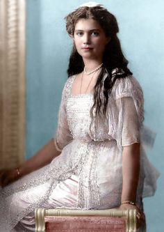 """Grand Duchess Maria , she stole some biscuits from her mother's tea table. As a punishment for her surprising behavior, the governess and Alexandra suggested she be sent to bed; however Nicholas objected, stating, """"I was always afraid of the wings growing. I am glad to see she is only a human child."""""""