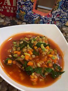 Sopa de Jitomate y Verduras   Receta de Dore Ferriz en AguayAjo.com