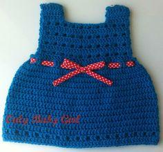 Baby dress crochet vestido de bebé em crochéfeito à mão peça única by Onlybabygirl,