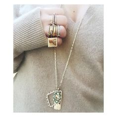 Just a casual jeweled up Thursday 💎Stacked rings 💍 and #MakeYourOwn necklaces from the #GAcharmsClub collection ➡️ Shop them all #linkinbio📲💻 #GAjewelrybyDimitraC