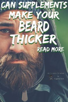 There are supplements which may help to give you a thicker beard or at least the apprearance of a thicker beard. Here you can discover various facts about growing a beard.  Read more about beard growth at beardtrimandgroom.com. #beardgrowth #thickerbeard Natural Beard Growth, Beard Growth Tips, Vitamins For Beard Growth, Beard Hair Growth, Facial Hair Growth, Beard Tips, Thicker Beard, Best Beard Care Products, Growing Facial Hair