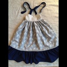 Toddler Girl Navy Sparrow Maxi Dress by Chicklettes on Etsy
