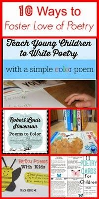 10 Ideas to Foster Love of Poetry from Planet Smarty Pants