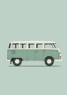 Ideas Retro Cars Illustration Vw Bus For 2019 Car Volkswagen, Volkswagen Bus, Tattoo Oma, Wolkswagen Van, Combi T2, Vw Caravan, Bus Art, Vw Camping, Disney Cars Birthday