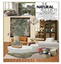 """""""The Natural Resources"""" by joyfulnoise1052 on Polyvore featuring interior, interiors, interior design, home, home decor, interior decorating, ESPRIT, Moooi, Trans Globe Lighting and Dot & Bo"""