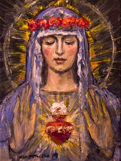 Mystic Rose II Art Print by castrillo Catholic Art, Catholic Saints, Religious Art, Mother Mary Images, Images Of Mary, Lady Madonna, Madonna And Child, Blessed Mother Mary, Blessed Virgin Mary