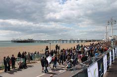 The Brighton Pier and moody sky.