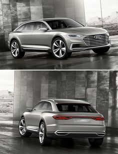 Audi's forthcoming Prologue Allroad is bigger & badder than ever. At nearly 17 feet long, it's got the same wheelbase as an A8 and rides 3-inches  higher. The 4.0-liter twin-turbo V8 is mated to an electric motor & outputs 738 horsepower while achieving a very impressive 98 MPG.