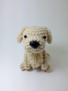 Golden Retriever Amigurumi Stuffed Animal Handmade by Inugurumi, $25.00