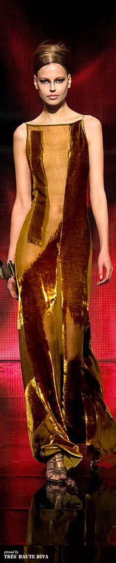 Donna Karan FW 2014-15 - New York Fashion Week♔PM (I dare you to wear it.) - Velvet - Terciopelo