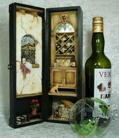 Kit de Vino Caja Viñeta .  No es un libro, pero está lind