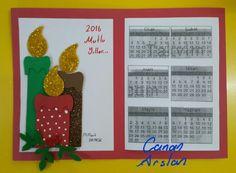 Yeniyıl kartı -Takvim- Okul öncesi sanat etkinliği
