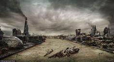 Artist Creates Post-apocalyptic Versions of London, Newcastle and Edinburgh