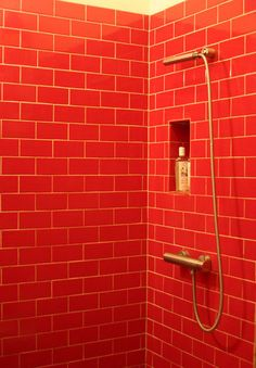 Bathroom Tiles Red barenzbuilders red subway tile shower | luxurious bathrooms