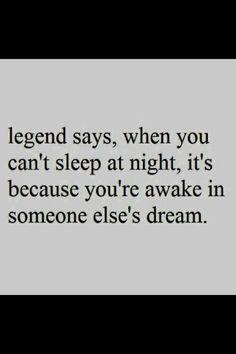 awake in someone else's dream