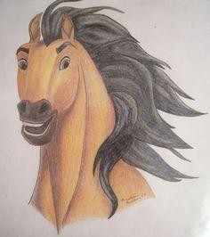 spirit stallion of the cimarron drawing - Google Search