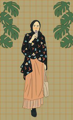 New animation art sketches cartoons illustrations ideas Fashion Illustration Sketches, Illustration Girl, Art Sketches, Digital Illustration, Cover Wattpad, Hijab Drawing, Art Quotes Funny, Islamic Cartoon, Anime Muslim