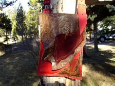 Handcrafted Leather BOHO Indie Messenger by WhiteBuffaloCreation, $69.00