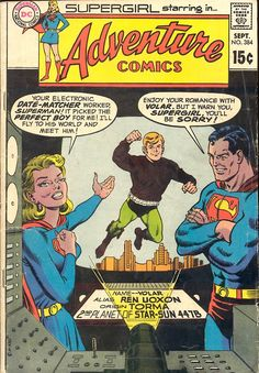 Adventure Comics #384, September 1969, cover by Curt Swan And Murphy Anderson