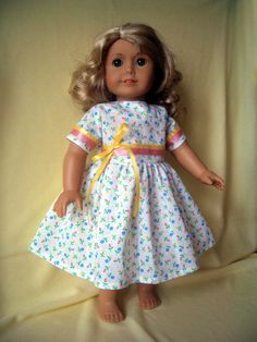 FOR SALE !!!!  Doll clothes summer Dress for AG American Girl Gotz by KNITnPLAY, $11.99