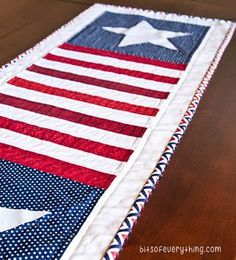 Simple Patriotic Table Runner