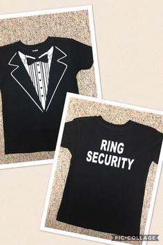 Ring Security-wedding/ring bearer t-shirt/wedding shirts/customize
