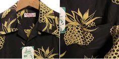 "SUNSURF (Sunsurf) aloha shirt ""DUKE'S PINEAPPLE"" Duke pineapple / ss34850 · Black"