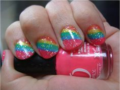 Summer Nails! Love this cute idea, but can't imagine I could make it look that nice.