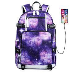 Gym Duffel Bag Universe Nebula Starry Galactic Sports Lightweight Canvas Travel Luggage Bag