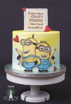 Minion cake by Twister Cake Art