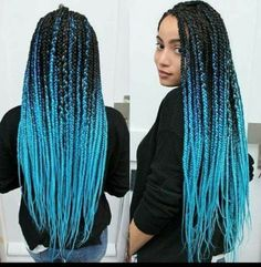 40 Awe-Inspiring Ways To Style Your Crochet Braids Crochet Braids are definitely the best way to rock your artificial hair or added hair. Take a look at these 40 inspiring and super trendy crochet braids hairstyles! Ombre Box Braids, Blonde Box Braids, Black Girl Braids, Braids For Black Women, Girls Braids, Purple Box Braids, Ombre Hair, Braided Hairstyles For Black Women, African Hairstyles