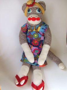 cutest sock monkey ever