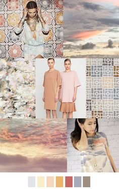 S/S 2017 COLORS TREND: NATURAL PASTELS SUNSET STRIP
