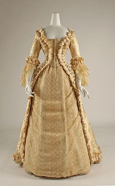 1880 Wedding Dress Culture: American Medium: silk