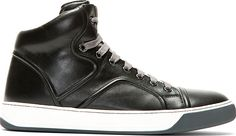 Lanvin Black Classic High-Top Sneakers