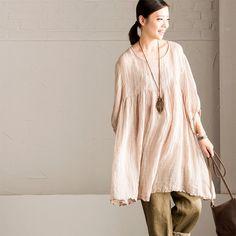 Art Vintage Cotton Linen T-shirt Summer Women Tops C2233A
