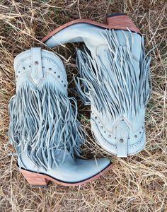 FADED BLUE JEANS RAMBLER BOOT - Junk GYpSy co.