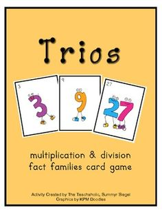 TRIOS - Multiplication and Division Card Game $4