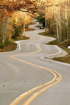 The long & Winding road, Winsconsin, USA