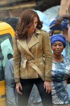 Scarlett Johansson films scenes on a motorcycle for Captain America: Civil War in Atlanta, Gerogia.