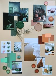 My April Mood Board-How to Create a Color Mood Board-EclecticTrends #moodboard